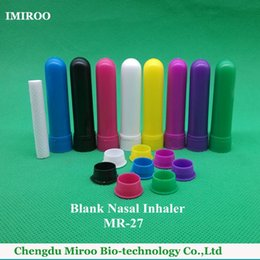 Wholesale Inhaler Glass - 120sets lot 2016 High Quality CE Approved 4 Full Parts Blank Aromatherapy Nasal Inhaler Sticks with 8 Rainbow Color