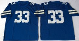 Wholesale Drop N Ship - Throwback Mens Football M&N Jerseys #33 Tony Dorsett 54 Randy White 88 Michael Irvin Stitched WITH NAME Free Drop Shipping Mix Order Sunnee