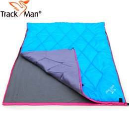 Wholesale Lunch Bags Sale - Wholesale- Trackman On sale 2 person couple spring autumn lunch breack picnic park cotton fleece hiking outdoor camping sleeping bag pad