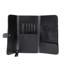 Wholesale Hairdressing Scissor Tool Bag - Wholesale- Pro Leather Hair Scissor Bags Case Waist Pack Pouch Holder Hair Styling Tools Hairdressing Cutting Accessories Tools