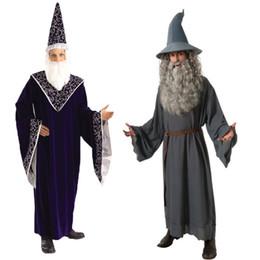 Diablo disfraces de halloween hombres online-Demonio adulto vampiro disfraz hombre etapa rendimiento Show Cosplay disfraz de Halloween bruja disfraz de Halloween vestido de fiesta de lujo