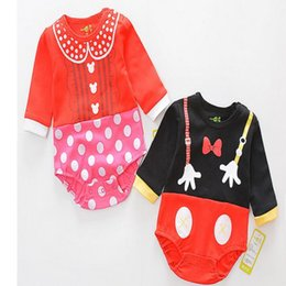 Wholesale Mouse Outfits - Baby Romper Summer Cartoon Mikey Mouse Donala Duck Romper Outfits Jumpsuit Baby Girl Jumpsuit Toddler Infant Outwear Bodysuit