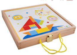 Novo brinquedo de madeira de madeira Jigsaw puzzle Building baby educacional toy baby gift Frete grátis de Fornecedores de teste de pc