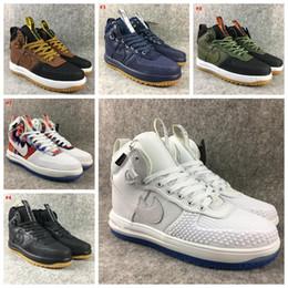 Wholesale Super Quality White Sports Shoe - 2017 hot sale Fashion new Lunar air 1 one Duck boot Men's sports boots Casual Shoes man sport Super Quality Sneakers US 7-12