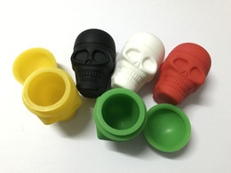 2019 dab slicks Cores sortidas Skull Screw Top NonStick Recipiente Caixa De Silicone slick containers antiaderente cera dab recipiente jarra de silicone para cera vaporizador desconto dab slicks
