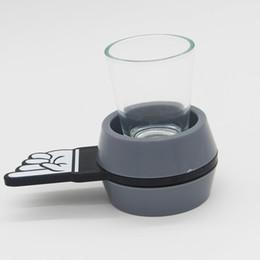 Dedos gafas online-Turntable Glass Beer Cup Multi Function Fiesta de cumpleaños Bar Game Toys Alta calidad Finger Arrow Shot The Spinner Hot Sale 10jk J R