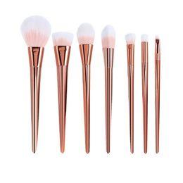 Wholesale Nylon Tracks - 7pcs pack Wholesale Makeup Brush Cosmetic Set Kit Black Makeup set Free Shipping You can package tracking