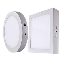 Wholesale Square Dimmable Downlight - 5-7-9-12 Inch 9W 15W 21W 30W Round   Square LED Panel Light Dimmable Surface Mounted LED Ceiling Downlight AC 85-265V