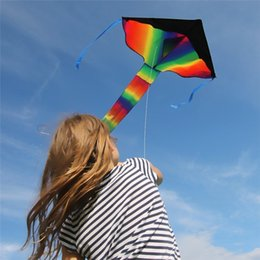 Wholesale Outdoor Toys Games - Huge Rainbow Kite For Kids One Of The Best Selling Toys For Outdoor Games and Activities - Good Plan For Memorable Summer Fun