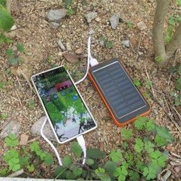 Wholesale Solar Power Phone Casing - Metal case solar power bank 20000mah bateria externa solar charger powerbank for mobile phone for pad Mobile phone charging