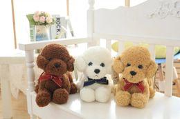 Wholesale Cute Scarves For Kids - 1pc 35cm Cute Plush Dog Toys Stuffed Animal Teddy Dog with Scarf Kawaii Dolls for Kids Birthday Gift