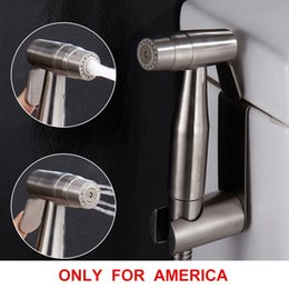 Wholesale Handheld Shattaf Bidet Sprayer - Free shipping Premium Stainless Steel Bathroom Handheld Bidet Shattaf Sprayer Transform Toilet into Spray Bidet only for America