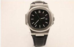 Wholesale Top Selling Digital Watches - 2017 Top sell wholesale hot sell Mans watch 39mm size black face automatic mechanical Leather strap AAA quality watch 39