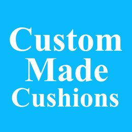 Wholesale Chair Covers Linens - Custom Cushion Covers OEM Customize Made Linen Fabric Cushion Cover Your Own Designs Print Pillow Case For Car Sofa Chair Seat Decoration