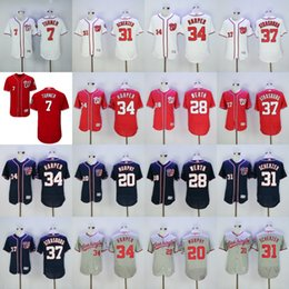 Wholesale National Jerseys - 2017 MLB Baseball Washington Nationals Jerseys Daniel Murphy Jayson Werth Max Scherzer Bryce Harper Trea Turner Stephen Strasburg Jersey