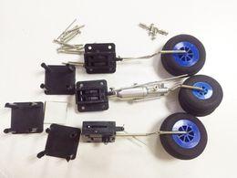 Wholesale Helicopter Landing - Original DIY Plane Parts Retractable Landing Gear With Wheels Levers Screws 1KG Tolerance For RC Airplane 3pcs   set