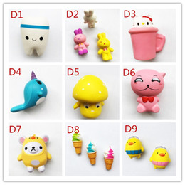 Wholesale Squeeze Cup - Hot sell SquishyToy Tooth Lovely bear KT-cat cup squishies Slow Rising Soft Squeeze Cute Cell Phone Strap gift Stress for children toy
