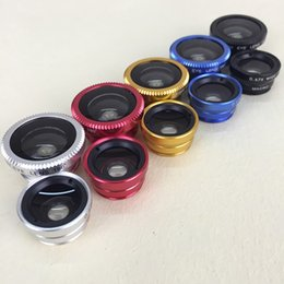 Wholesale Degree Super Wide Angle - 0.4 times the super-wide phone ultra wide Angle lens combination 0.4 X+180 degrees fisheye + macro lens