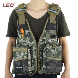 Wholesale Flotation Jackets - Wholesale- Camouflage Adult Foam Flotation Swimming Life Jacket Vest With Whistle Boating Water Fishing Swimming Safety Life Jacket Unisex