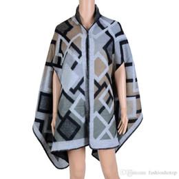 Wholesale Cashmere Scarves Match - 2016 Fashion Women's Autumn Winter Thicking all-match Poncho Womens Lady Knit Shawl Cape Imitation Cashmere Scarf Cloak D6045