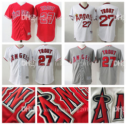Wholesale Majestic - Men's Los Angeles Angels of Anaheim 27 Mike Trout Baseball Jerseys MLB Majestic Scarlet Alternate Big & Tall Cool Base Player Jersey