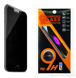 Wholesale Shield For Iphone 4s - Privacy Screen Tempered Glass Anti-Spy Shatter-proof Guard Shield for iPhone 6s 6plus 5s 5c SE 4s Samsung S7 S6 Note5 J5 S5 with Retail Box