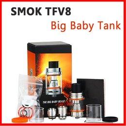 Wholesale E Ci - Top Quality SMOK TFV8 Big Baby & Big Baby Tank Single Pack 5ml 3ml Top Filling Airflow Control V8 Beast Coils Atomizers Stick Vape mods e ci