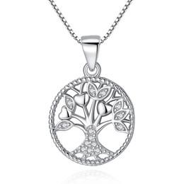 BELAWANG Vendita calda 925 collane a catena in argento sterling Collane Albero della vita ciondolo collana per donna uomo 925 gioielli in argento regalo da