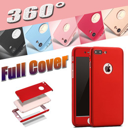 Wholesale Iphone Full Cases - Ultra-thin Hybrid 360 Degree Coverage Full Body Protection Hard PC Full Cover Case Tempered Glass For iPhone X 8 7 Plus Samsung S8 S7 Note 5