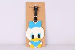 Wholesale Donald Duck Bag - Wholesale-1pcs Donald Duck Daisy PVC Bag Pendant Travel Name Tag Novelty toys