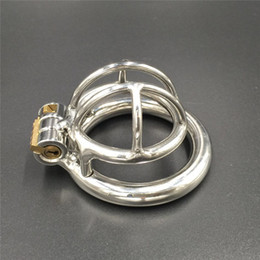 Wholesale Chastity For Small Cocks - New design magic lock stainless steel male chastity cage 20mm small new cock cage super short chastity devices for men