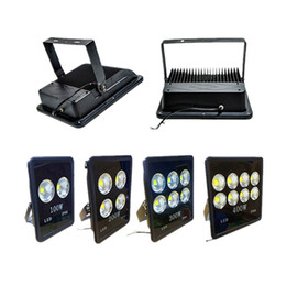 Wholesale Square Spotlights - Outdoor led flood Light 100W 200W 300W 400W stadium lights waterproof floodlights square garden led landscape lighting spotlight AC 85-265V