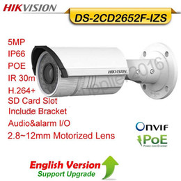 Wholesale Optic Camera - Hikvision original english ver DS-2CD2652F-IZS 5MP 4X Optic Zoom audio alarm Varifical 2.8-12mm Motorized Lens IR POE network Bullet Camera
