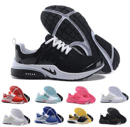 Wholesale Lightweight Mesh Breathable Hiking Shoe - Top Quality 2017 Men Women Casual Air Mesh Presto Black Grey Red White Lightweight Walking Hiking Shoes 36-45