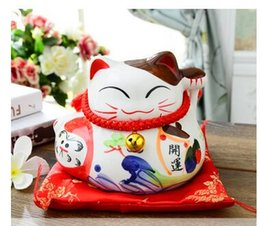 Wholesale Gold Piggy Bank - Lucky cat ceramic ornaments Home Furnishing office jewelry shop opening housewarming gift creative birthday piggy bank savings