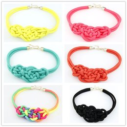 Wholesale Handwoven Rope - Wholesale-N022 Fashion Pendant Choker Necklace For multicolor Creative Women Cotton Handwoven Rope Jewelry Charm Chinese Knot Necklace