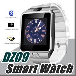 Wholesale Bs Silver - 40X DZ09 Smart Watch Bluetooth Smartwatch Wrist Watche For Phone Support Camera SIM Card TF Card U8 A1 Fitbit Watch With call reminders B-BS