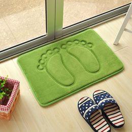 Wholesale Memory Foam Waterproof - Wholesale-40*60cm foot shaped bath mat waterproof non-slip slow rebound memory foam bath mat bathroom Free Shipping