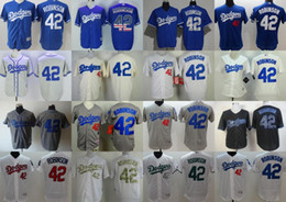 Wholesale Short Females - 2017 Los Angeles Dodgers Male Female Youth Toddler Jackie Robinson Designed flex cool baseball jerseys( XXS-6XL) Grey White Blue Ivory Black