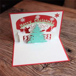 2019 kirigami conçu des cartes pop up Handmade Christmas Tree Design Joyeux Noël Cartes Kirigami Origami 3D Pop UP Carte De Voeux Pour Enfants Amis ZA5140 kirigami conçu des cartes pop up pas cher