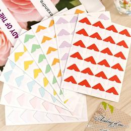 Wholesale Gift Card Sticker - 1 pages (24 pcs) photo album Scrapbook Pure color Corner Protectors DIY Sticker Gift Decor Card Scrapbooking Arts crafts