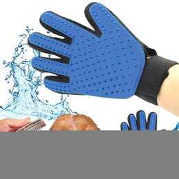 Wholesale Dog Mitts - True Touch Pet Dog Cat Brush Glove Mitt Deshedding Glove for Gentle Pet Grooming Massage Bathing Brush Comb for Long Short Hair