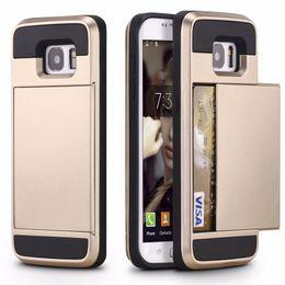 2019 samsung core prime j7 Estuches para Samsung Galaxy J5 A3 A5 A7 J7 2016 J510 S8 Plus S7 S6 Edge S5 Grand Core Prime Funda Porta tarjeta de identificación de crédito Titular samsung core prime j7 baratos