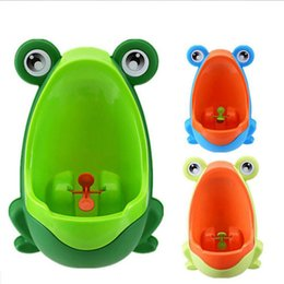 Wholesale Toilet Training For Kids - Cartoon Children Frog Toilet Training Kids Urinal Plastic for Boys Pee Baby Potty Wall-Mounted Kids Toilet Portable Potty Boy Urinals