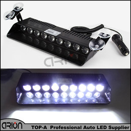 Wholesale Strobe Flashing Car Headlights - White 9 LED 27W Windshield Warning Light Car Strobe Lightbar Truck Flashing Beacons Emergency Signal lamp 12V