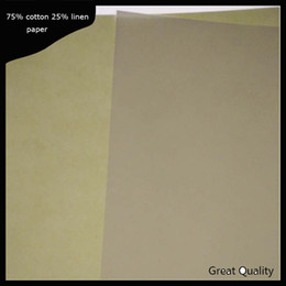 Wholesale Linen Postcards - 300 sheets anti-counterfeiting printinng paper 75% cotton 25% linen pass pen test paper high quality with colored fiber A4 size(JQ1705011)