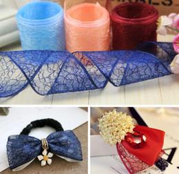 Wholesale Belt Webbing Wholesale - 40mm Pretty Silk Organza Transparent Ribbon For Wedding Party Decoration Webbing Crafts Gift Packing Belt DIY Handmade Bows