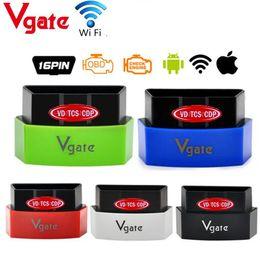 Wholesale Iphone Diagnostic Tools - Wholesale- ELM327 Vgate iCar 3 Wifi OBD2 OBD Diagnostic Interface for Android Iphone PC Auto Car Scanner ICar3 Scan Tool 5 Colors Choose