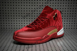 Wholesale Wine Air - Cheap New Air retro 12 XII Wine red mens basketball shoes sneakers Running shoes For men sports shoe trainers 12s Drop shipping Size 8-13