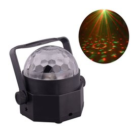 Wholesale Car Led Lights Wholesale Usa - Mini LED Stage Lighting System Disco Ball Color Changing RGB Rotating Lights for Car Family Party Wedding Show Decoration
